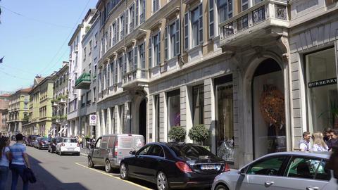 Milan, Italy Via Monte Napoleone fashion district GIF