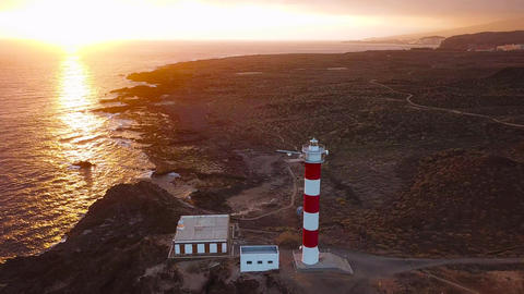 View from the height of the lighthouse Faro de Rasca on The Tenerife, Canary Footage