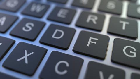 ADD key turning over to DELETE button on the keyboard. Conceptual 3D animation Live Action
