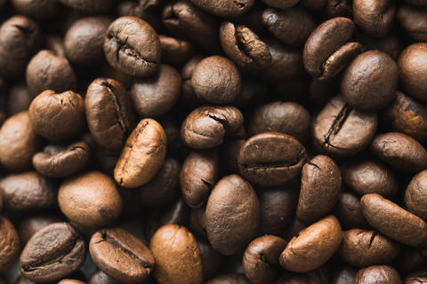 Surface with coffee beans Photo