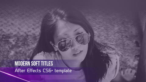Modern Soft Titles After Effects Template