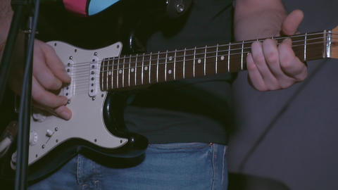 Man playing the electric guitar Footage