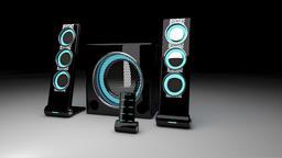 5.1 Speaker set 3D Model New 2018 Cinema4D 3D Model