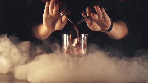 Barman make a cocktail Footage