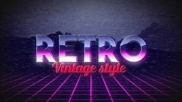 Retro Title Plantilla de After Effects