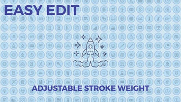 Business icons Plantilla de After Effects