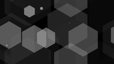 hexagon overlay Stock Video Footage