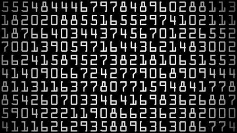digital numbers Animation