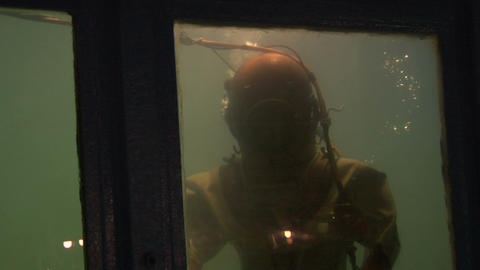 diver 02 Stock Video Footage