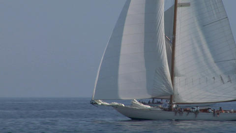 old sail 04 Stock Video Footage