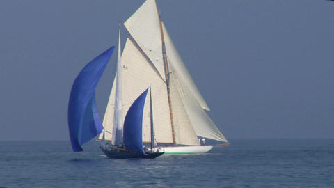 old sail 08 Stock Video Footage