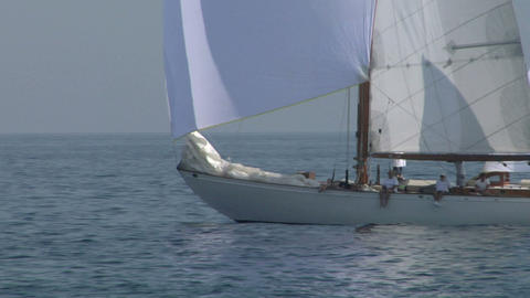 old sail close up 01 e Stock Video Footage