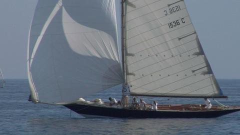 old sail close up 05 e Stock Video Footage