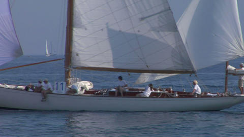 old sail close up 09 e Stock Video Footage