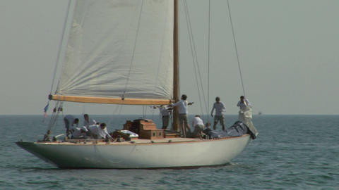 old sail crew 03 e Stock Video Footage