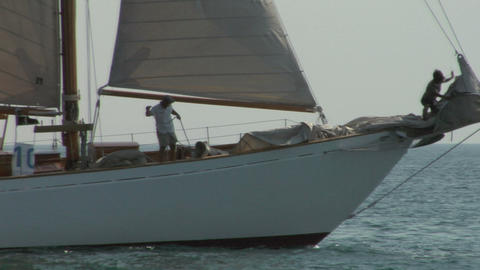 old sail crew 05 e Stock Video Footage