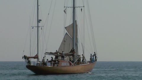 old sail crew 07 e Stock Video Footage