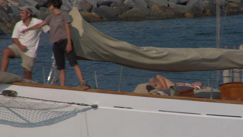 old sail crew 09 e Stock Video Footage