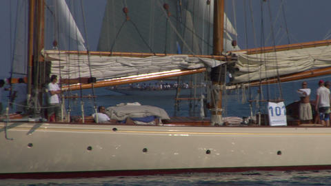 old sail crew 11 e Stock Video Footage