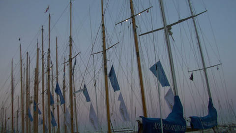 old sail mast 02 Stock Video Footage