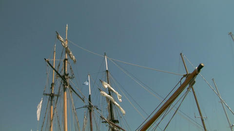 old sail mast 04 Stock Video Footage