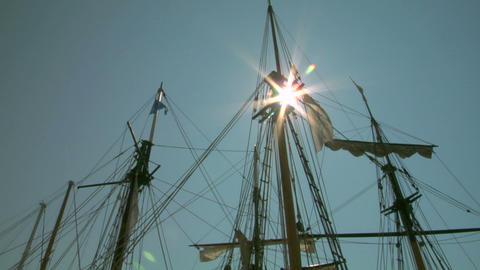 old sail mast 06 Stock Video Footage
