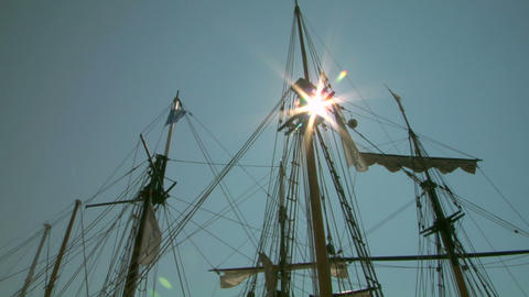 old sail mast 06 Stock Video Footage