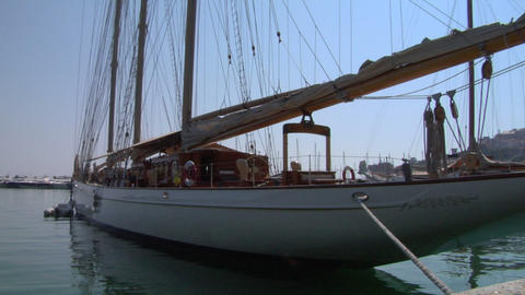 old sail wharf 06 Stock Video Footage