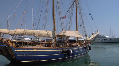 old sail wharf 08 e Stock Video Footage