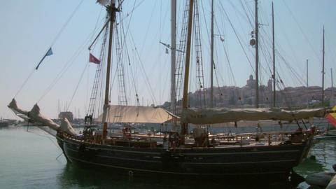 old sail wharf 10 e Stock Video Footage