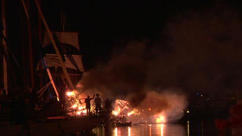 pirates landing 02 Footage