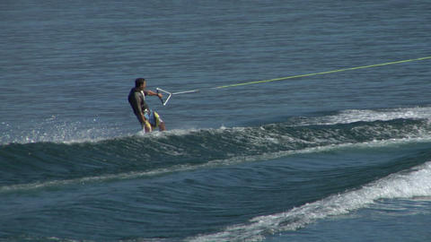 wakeboard 16 e Stock Video Footage