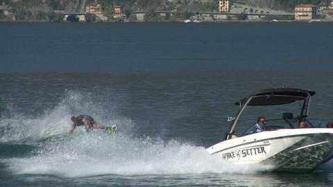 wakeboard 34 e Stock Video Footage