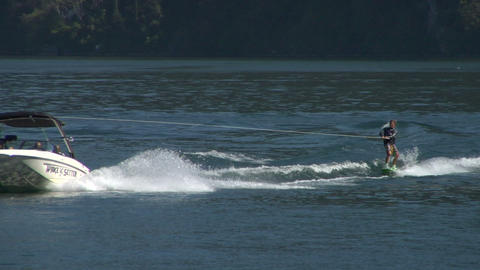 wakeboard 43 e Stock Video Footage