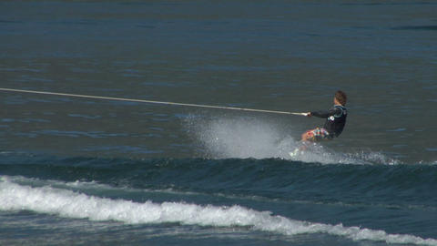 wakeboard 45 e Stock Video Footage