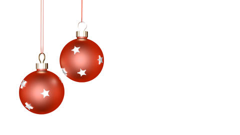 Xmas Ornaments Loop Stock Video Footage