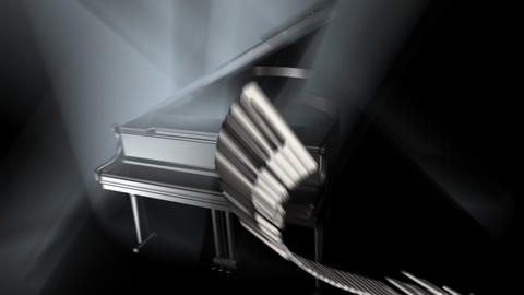 Piano Intro Stock Video Footage