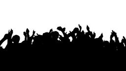 Crowd Silhouette, HD Stock Video Footage