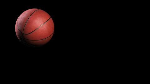 Basketball, jumping on black background, loop Stock Video Footage