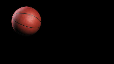 Basketball, jumping on black background, loop Stock Video Footage