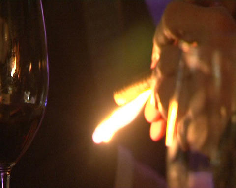 cigar and flame Stock Video Footage