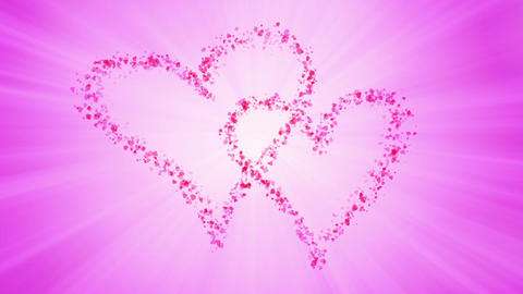 Heart Particles Stock Video Footage