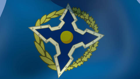 Flag of Collective Security Treaty Organisation (CSTO) Stock Video Footage
