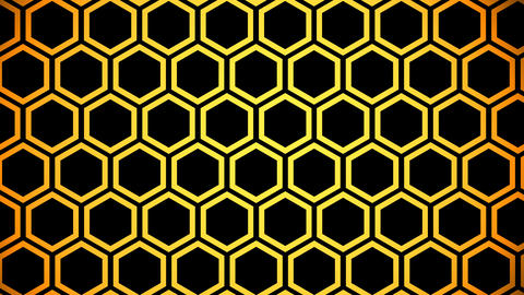 yellow hexagon Stock Video Footage