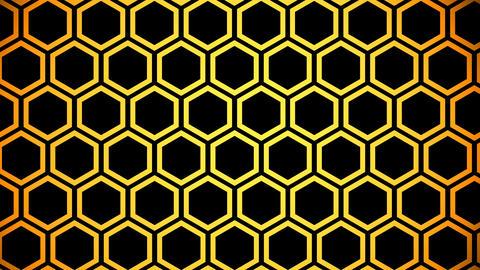 yellow hexagon Stock Video Footage
