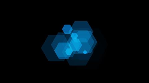 hexagon blue Animation