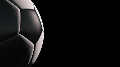 Soccer ball, Rotation on black background, loop Animation