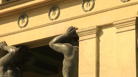 The Sculpture Of Atlantean Stock Video Footage