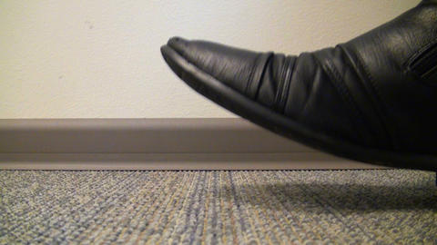 Men 's shoes tapping on the floor Stock Video Footage