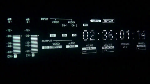 Timecode display and inserting tape Footage